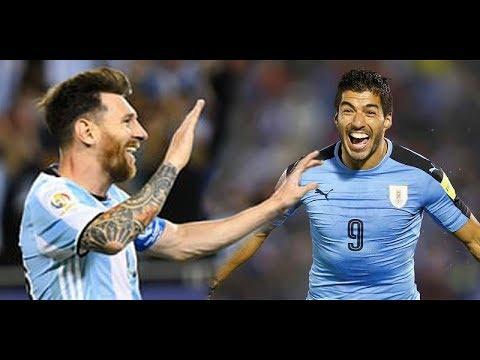 ميسي ظن أنه في برشلونة و مرر الكرة لسواريز في مباراة الأرجنتين ضد الأوروغواي