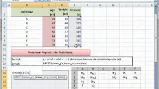 Microsoft Excel: Analisis Regresi Linier Berganda (Fungsi