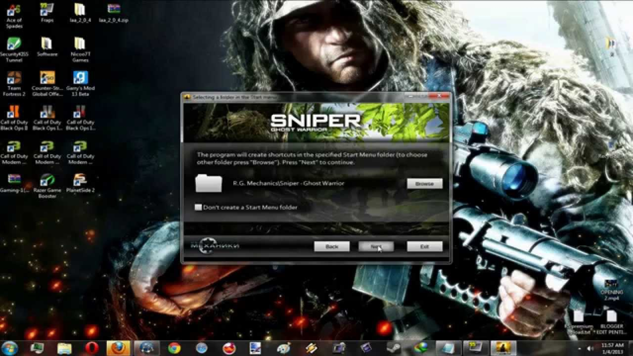 How To Install Sniper Ghost Warrior-R.G Mechanics [WORKING ...