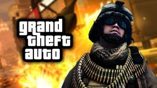 GRAND THEFT BATTLEFIELD! - GTA Funny Moments and Deaths