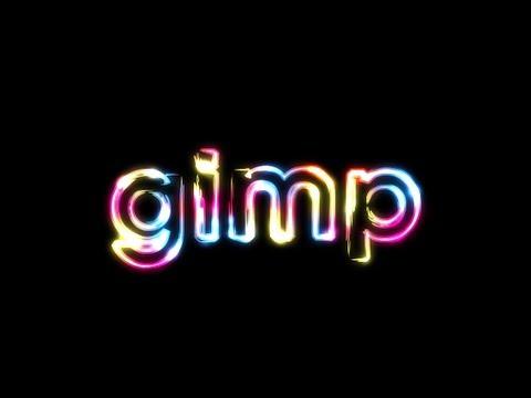 GIMP Tutorial: Super Glowy Rainbow Text Effect