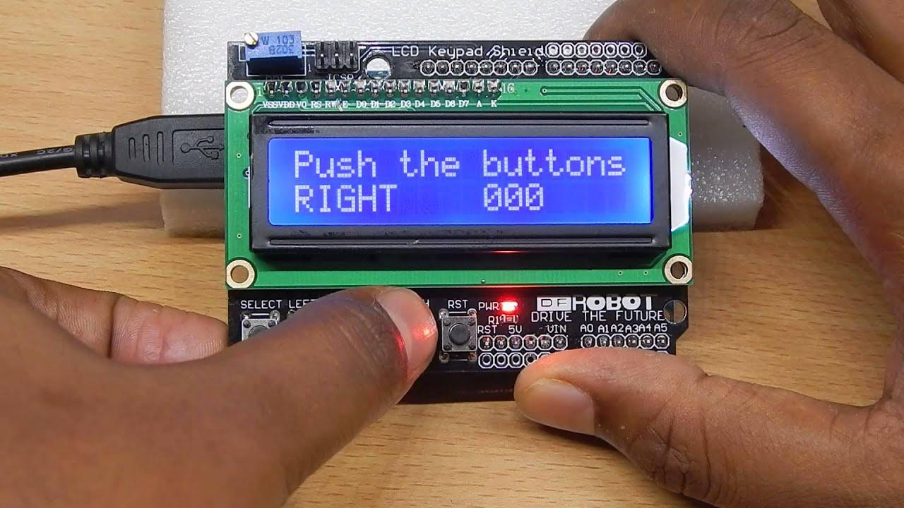 Arduino lcd shield keypads demo youtube