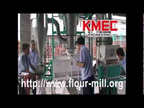 Complete plant of small flour mill machinery for sale