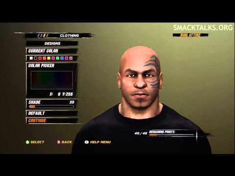 WWE '12: Mike Tyson CAW Formula by Tyrant185