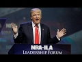 Trump is first sitting president to address NRA since Reagan
