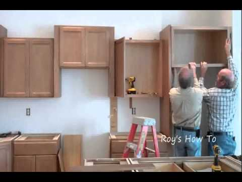 Installing kitchen cabinets youtube for Installing kitchen cabinets