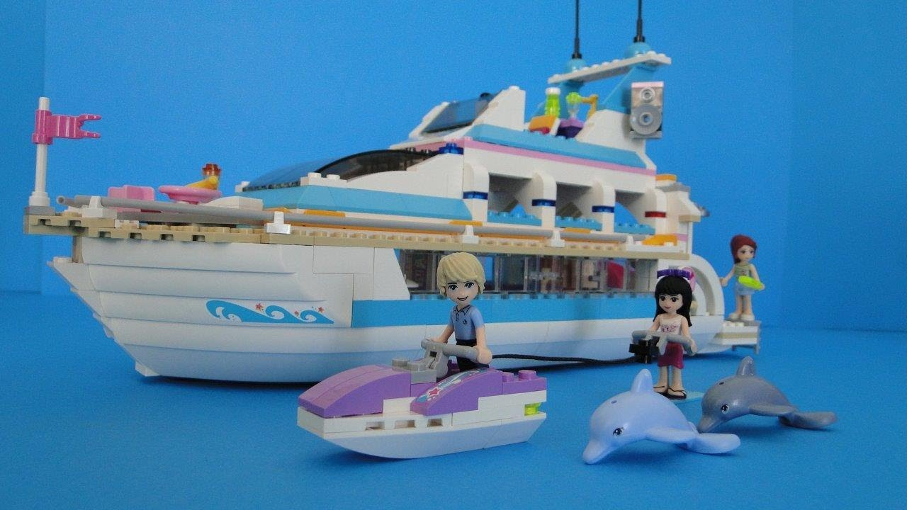Lego Friends 41015 Dolphin Cruiser Yacht STOP MOTION - YouTube