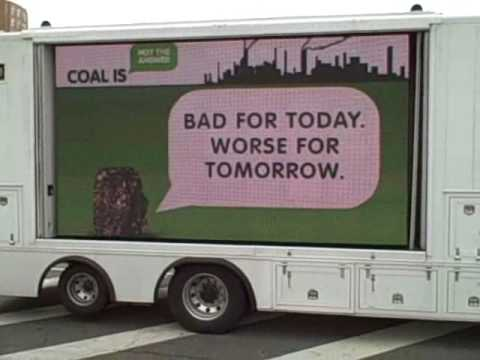 Coal Is Not the Answer Slogan Delivery