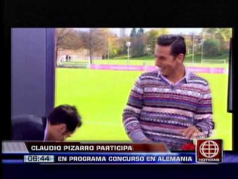 América Noticias - 011113 - Claudio Pizarro participó en programa concurso en Alemania