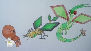 How To Draw Pokemon: No. 328 Trapinch, No. 329 Vibrava, No