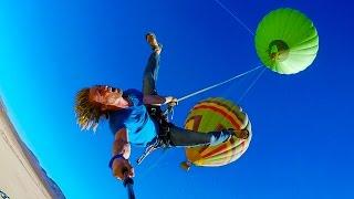 gelantungan di balon udara ini benar - benar ngiler ingin mencobanya