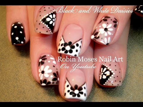 Easy Flower Nail Art,