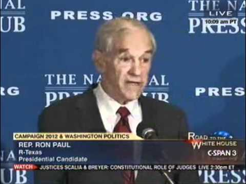 Ron Paul at the National Press Club 10/5/11 (1/4)