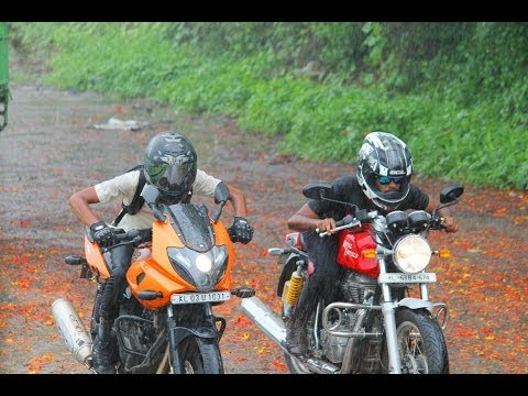 Royal enfield Continental GT VS Bajaj Pulsar 220F Drag Race #Fastest Indian Myth Busted#