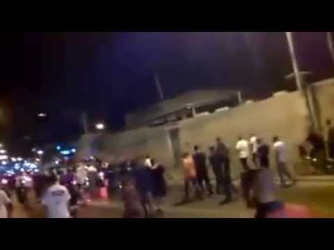 Arabs in Yaffo Tel Aviv celebrate Hamas rocket fire on Israel 2