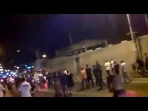 Arabs in Yaffo Tel Aviv celebrate Hamas rocket fire on Israel 2