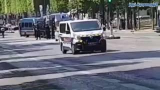 شاهد.. اللحظات الأولى لانفجار باريس الإرهابي