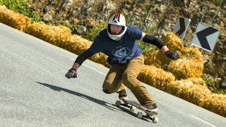 Agressive  No Hands Downhill Longboarding