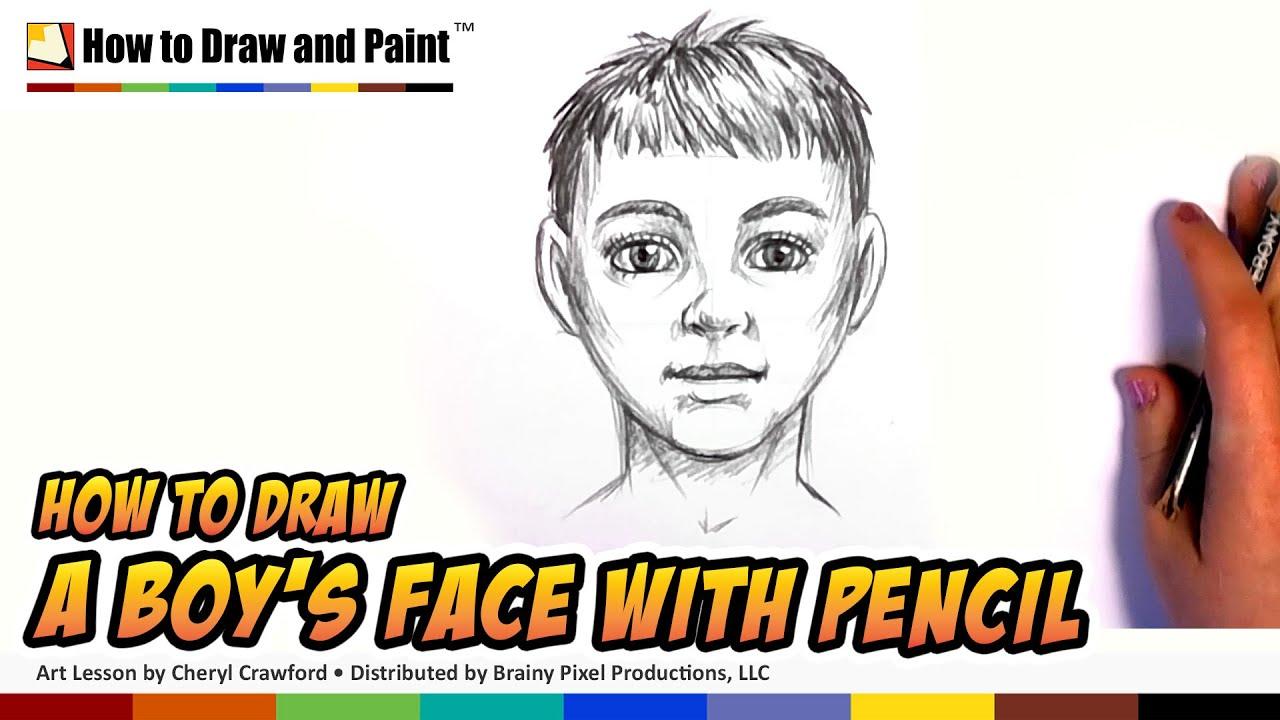 how to draw realistic boy
