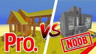 Thử Thách Làm Nhà Noob Và Pro Trong Minecraft