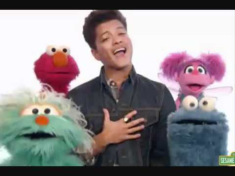 Bruno Mars & Sesame Street- Don't give up