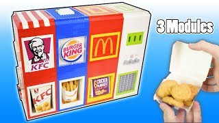 Ultimate Mechanical LEGO 3-in-1 Fast Food Vending Machine | Mcdonalds, Burger king and KFC