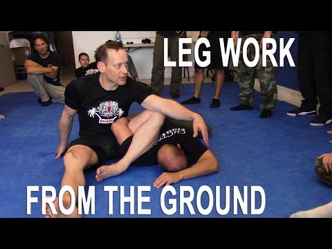 Sensitivity drill with the legs - great for all martial arts