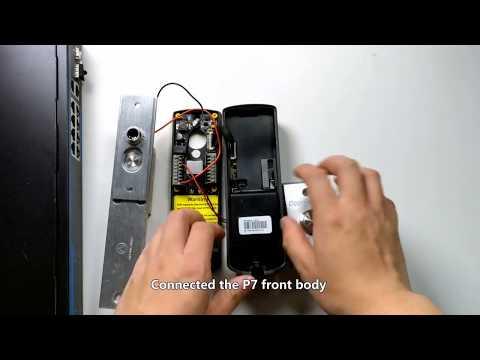 P7 controllo accessi biometrico e card cablaggio in POE