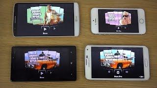 GTA San Andreas Nokia Lumia 930 Vs. IPhone 5S Vs. LG G3 Vs