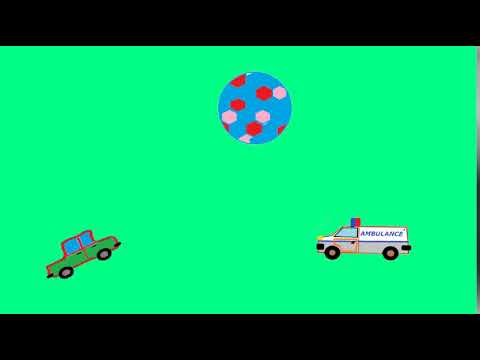 Funny cars play volleyball with ball for kids (NO MUSIC)
