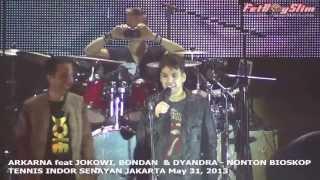 ARKARNA Feat JOKOWI, BONDAN & DHEANDRA NONTON BIOSKOP