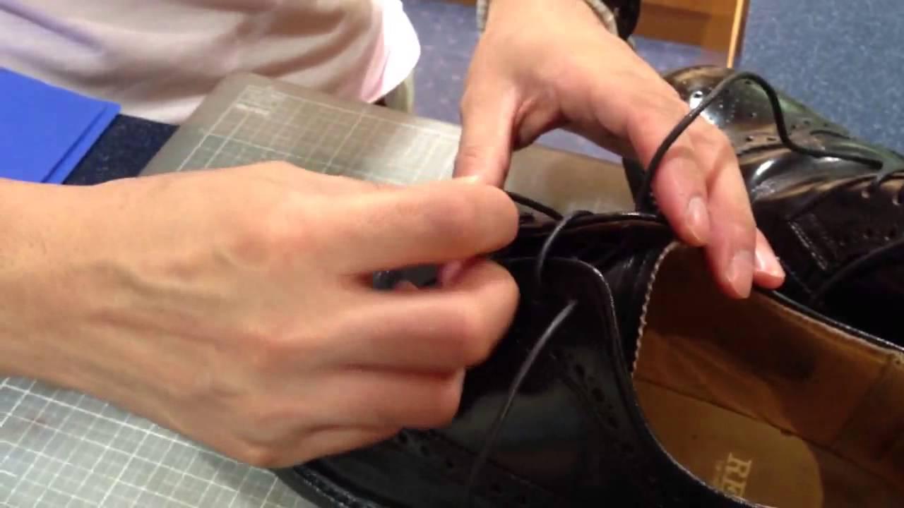 パラレル 革靴 靴紐 結び方 ...