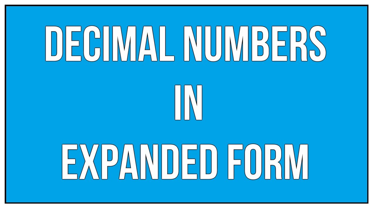 How To Write A Decimal In Expanded Form Term Paper Writing Service