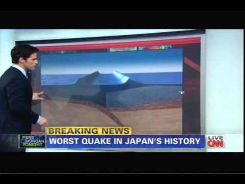 JAPAN EARTHQUAKE &amp; TSUNAMI 3/11/2011 CNN NEWS * * RING OF FIRE