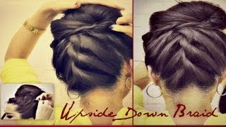 ★HAIRSTYLESKOREAN BUN UPSIDE DOWN BRAIDED BUN UPDO