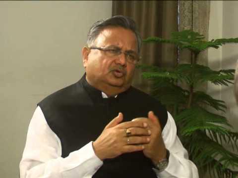 Raman Singh's Interview with Hari Shankar Vyas for ETV Central hall /Naya India Part 1
