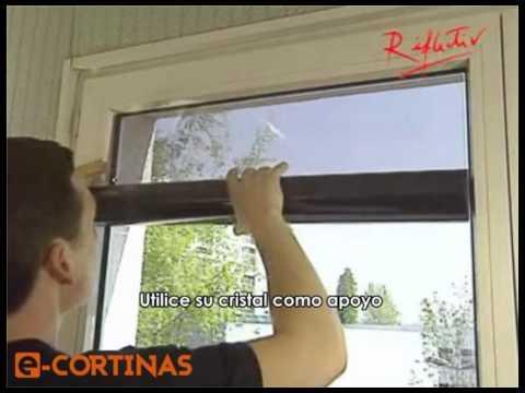 Laminas anticalor como instalar laminas anticalor for Laminas proteccion solar leroy merlin
