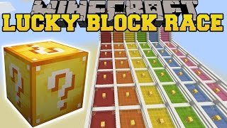 Minecraft: INSANE LUCKY BLOCK RACE - Lucky Block Mod - Modded Mini-Game