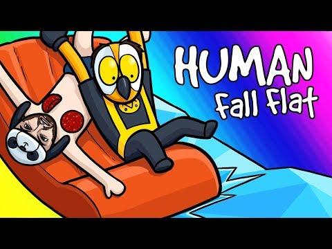 Human Fall Flat Funny Moments - Boat Rides and Panda's Horror Face!