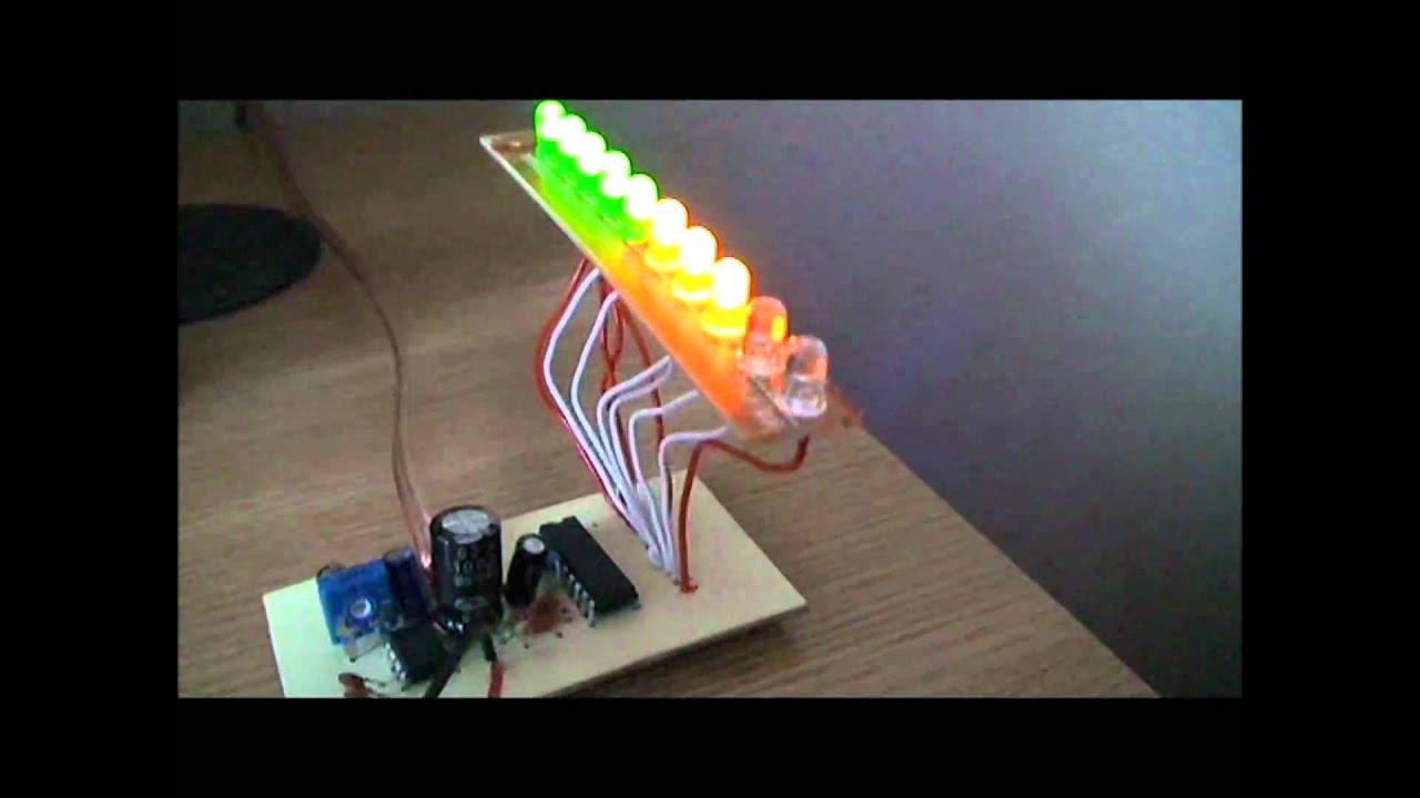 Lm3915 Vumeter Stereo Easyeda Vu Meter Circuits Lm3914 Pcb Metre Youtube