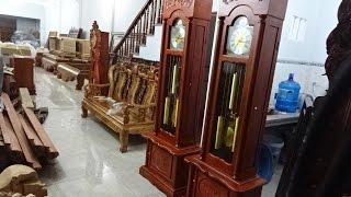 3 đồng hồ cây, gỗ hương, giá rẻ, 16 triệu, 14-8-2016, Đồ Gỗ Đức Hiền