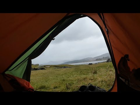 Wild camping scotland galloway forest campfire cooking pizza tinfoil dinner