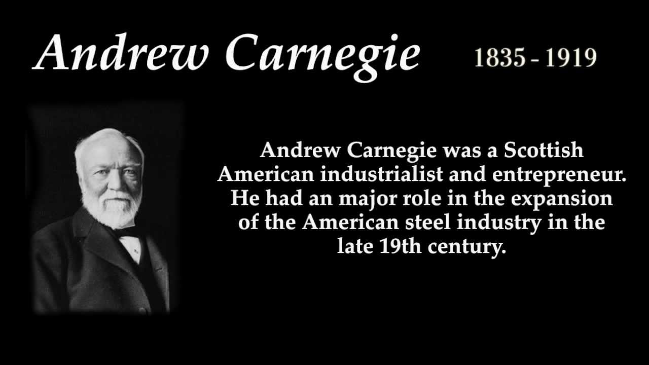 Andrew Carnegie Top 10 Quotes Youtube