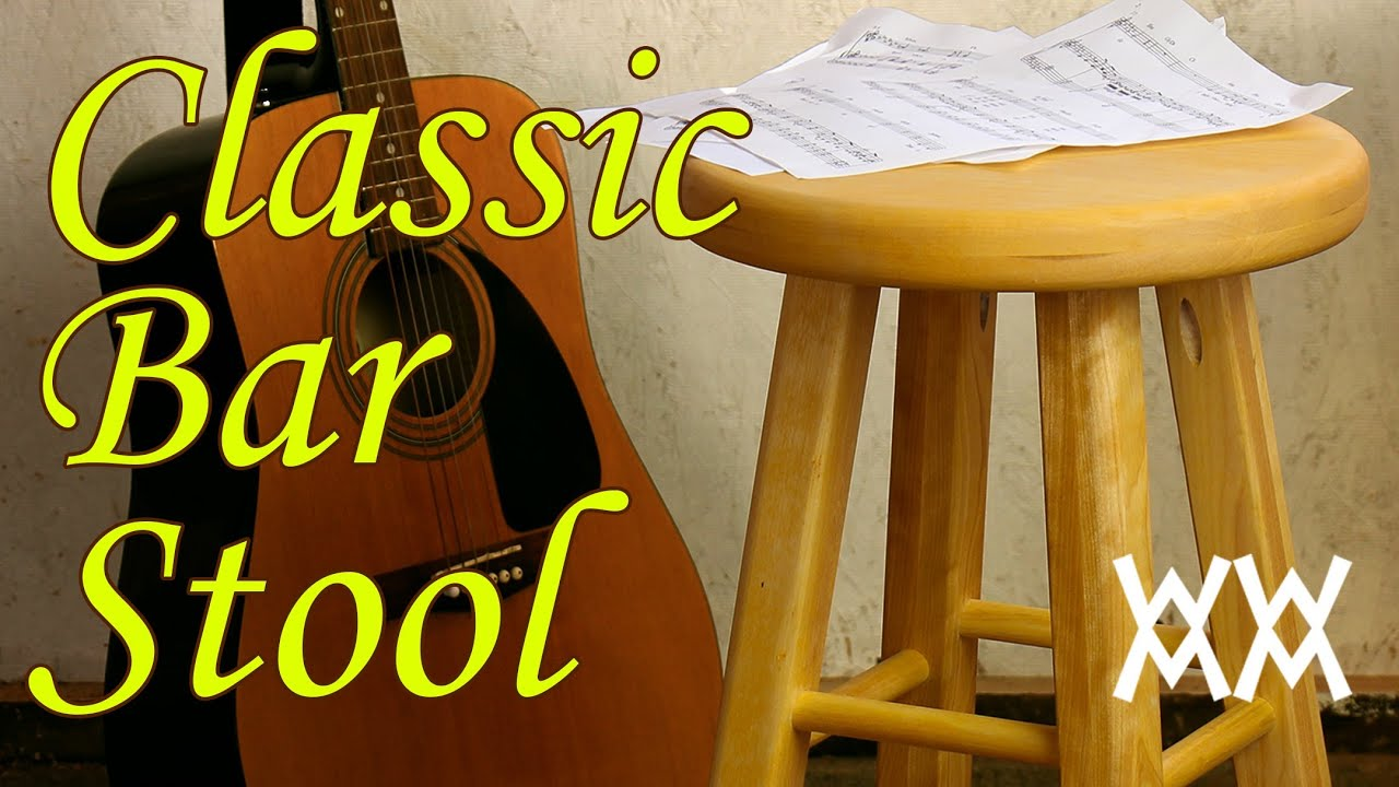 Make a classic wooden bar stool Its a great guitar stool  : maxresdefault from www.youtube.com size 2160 x 1215 jpeg 316kB