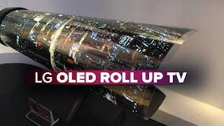 CNET-LG OLED TV rolls up like a piece of poster