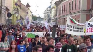 """Protest la Cluj: """"Guvernul trădării a pus capăt răbdării"""""""