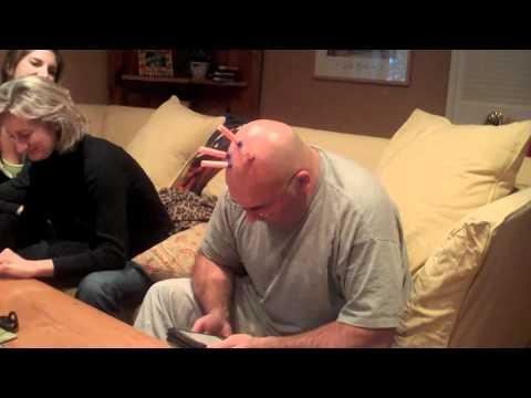 Nerf Gun on Bald Head