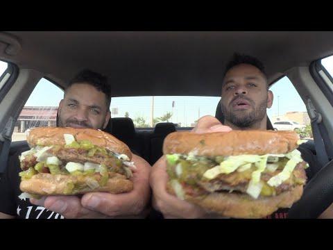 Eating Fatburger's Turkey Burger