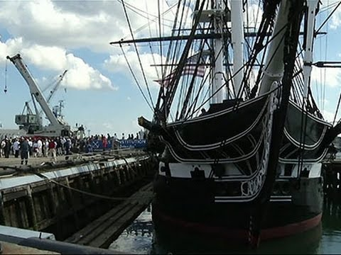 Raw: USS Constitution Takes Final Trip