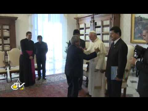 Pope Francis meets President of Bolivia